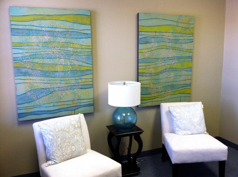 Custom diptych for client's office.