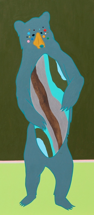 Bear Belly, 10x22 Acrylic on canvas