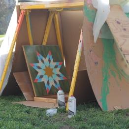My funky homemade spray tent